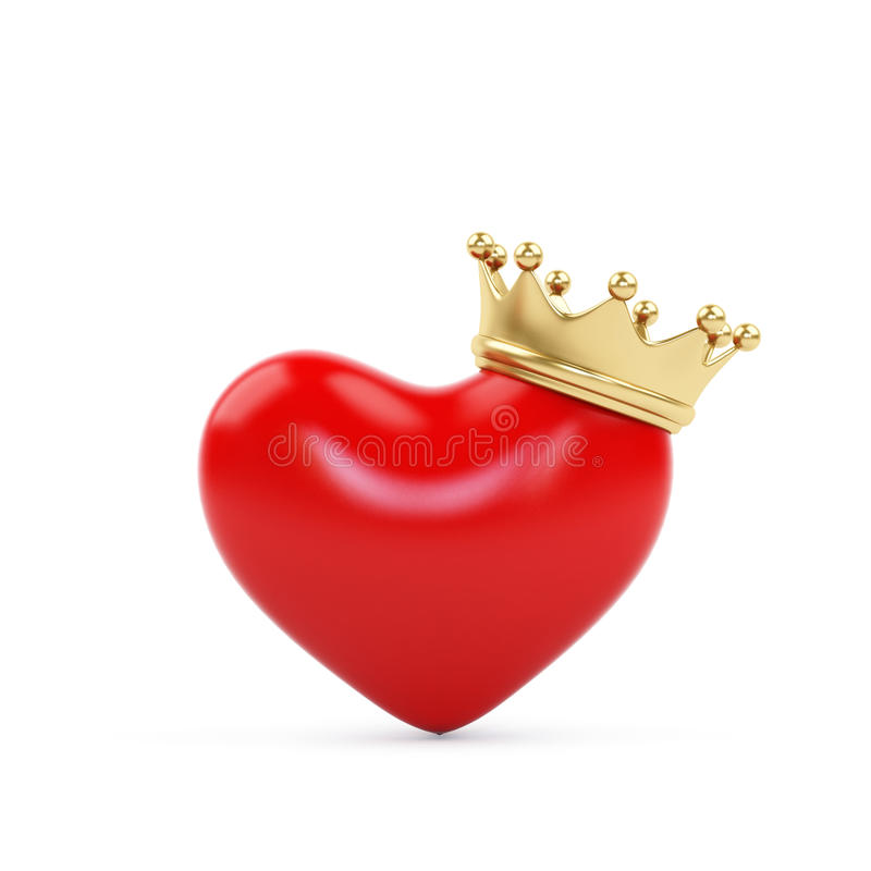 Illustration Of A Heart Symbol Wearing A Crown King Of Hearts