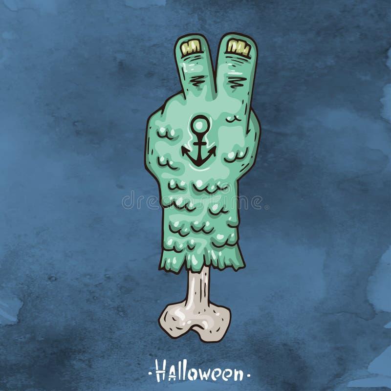 Illustration heureuse de bande dessinée de Halloween illustration libre de droits