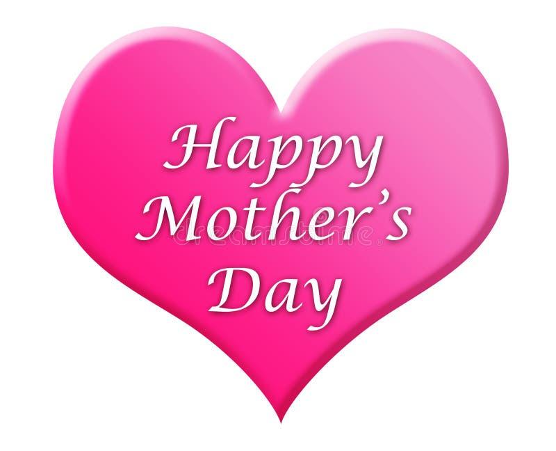 Illustration heureuse de coeur du jour de mère illustration stock