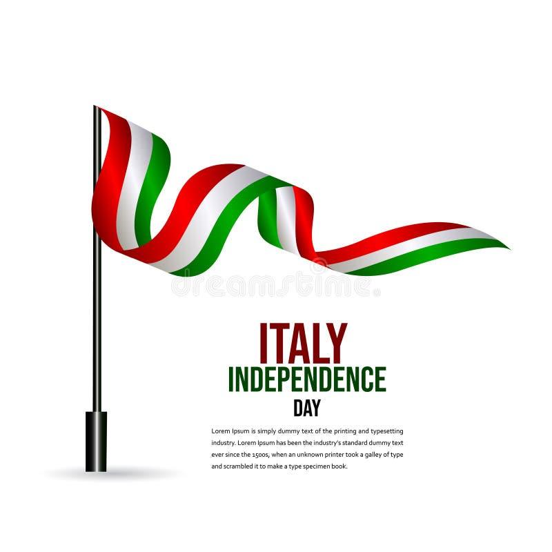 Illustration heureuse de conception de calibre de vecteur de célébration de Jour de la Déclaration d'Indépendance de l'Italie illustration libre de droits