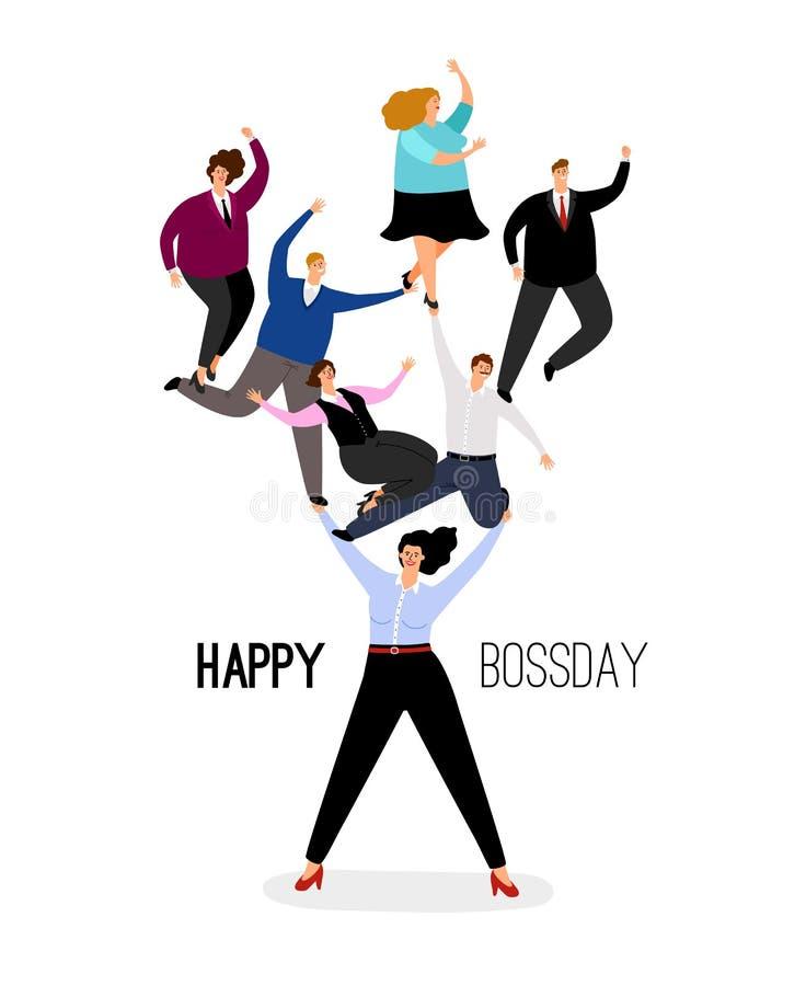 Illustration heureuse de jour de patron illustration stock