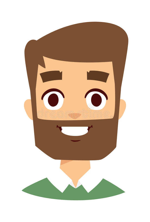 Illustration heureuse de vecteur de visage d'homme illustration stock