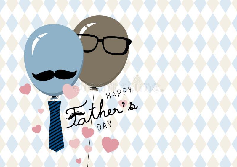 Illustration heureuse de vecteur de design de carte de jour de pères illustration libre de droits