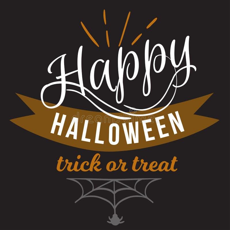 Illustration heureuse de vecteur de signe de logo de Halloween illustration libre de droits