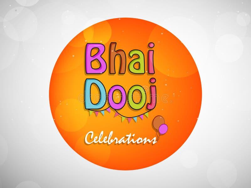 Illustration hindischen Hintergrundes Festival Bhai Dooj stock abbildung
