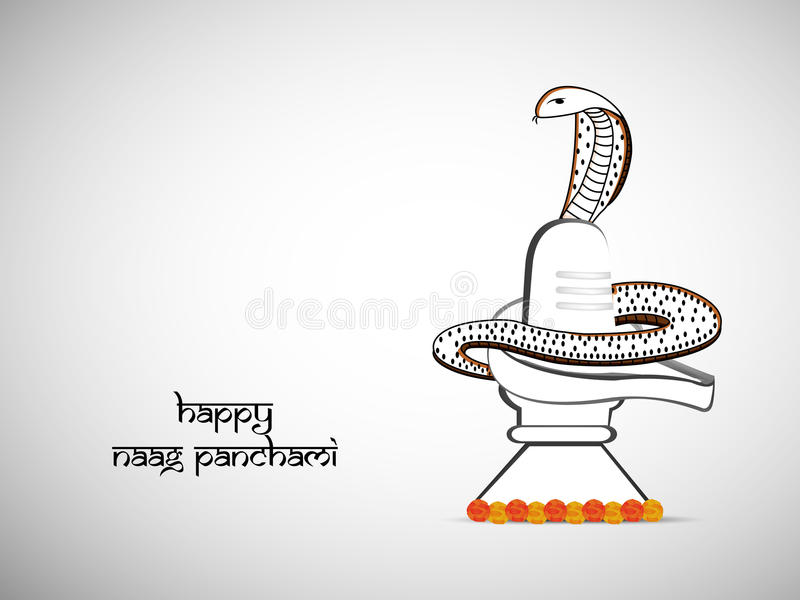 Illustration hindischen Hintergrundes Festival Naag Panchami lizenzfreie abbildung