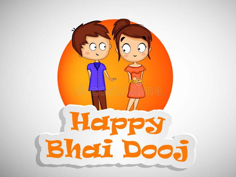 illustration of Hindu Festival Bhai Dooj Background stock illustration
