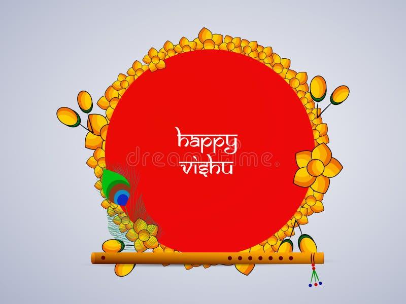 Illustration of Hindu festival Vishu Background stock illustration