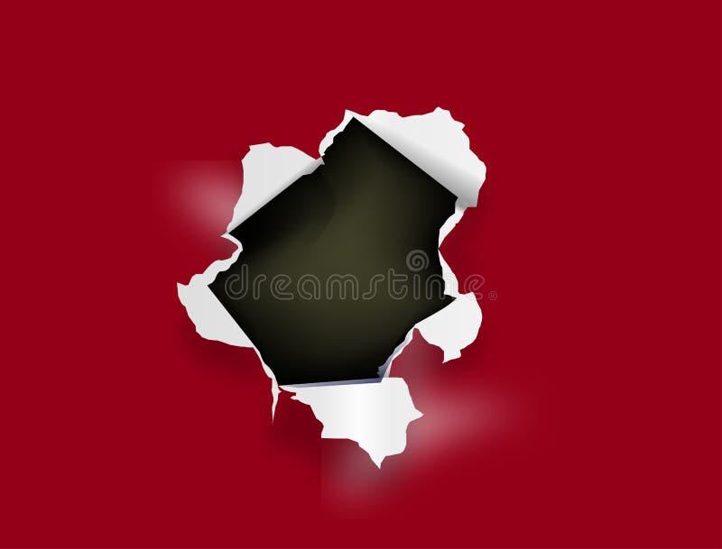 Paper hole vector illustration