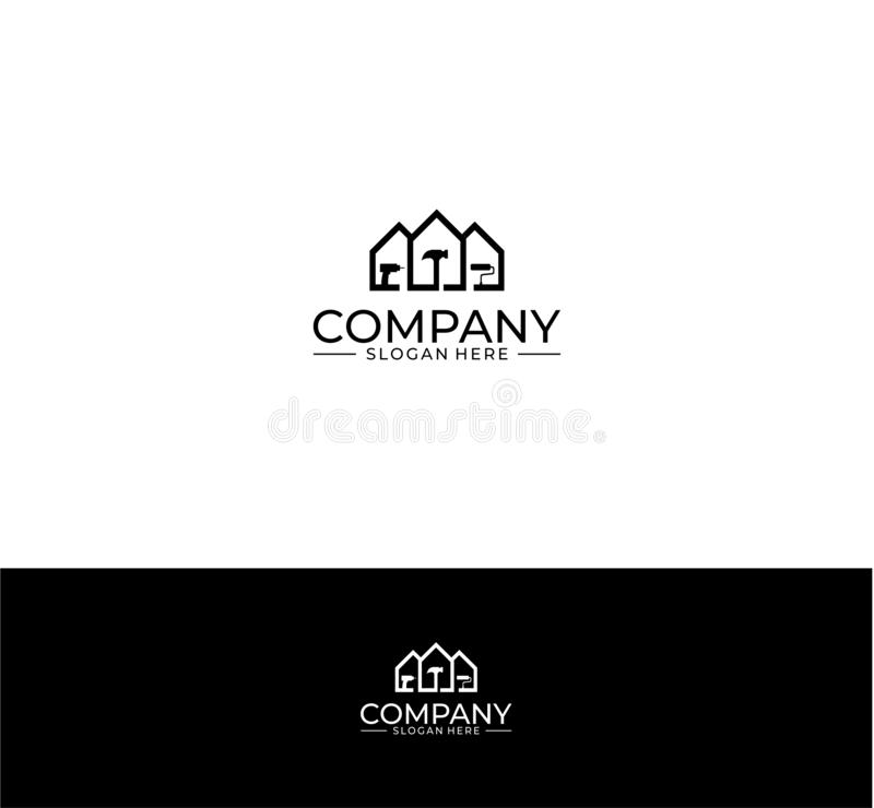 Home improvement logo stock illustration