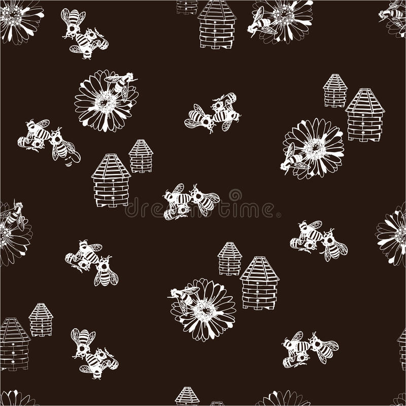 Illustration of honey seamless pattern royalty free stock photo