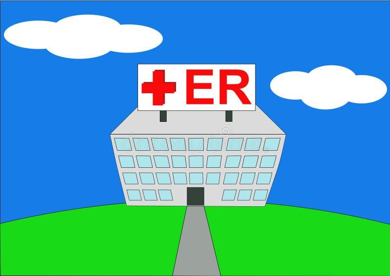 Illustration of hospital ER royalty free illustration