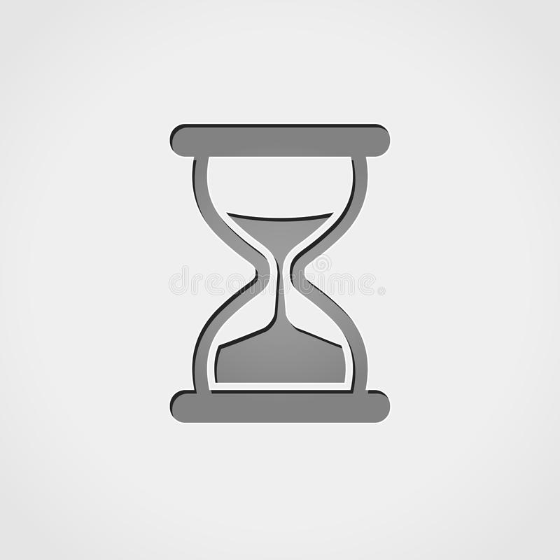 Hourglass grey icon. Illustration of hourglass grey icon royalty free illustration