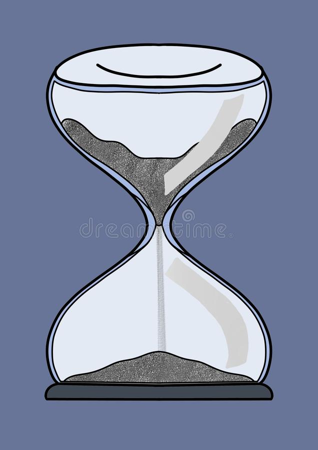 Time is life, use it wisely stock illustration