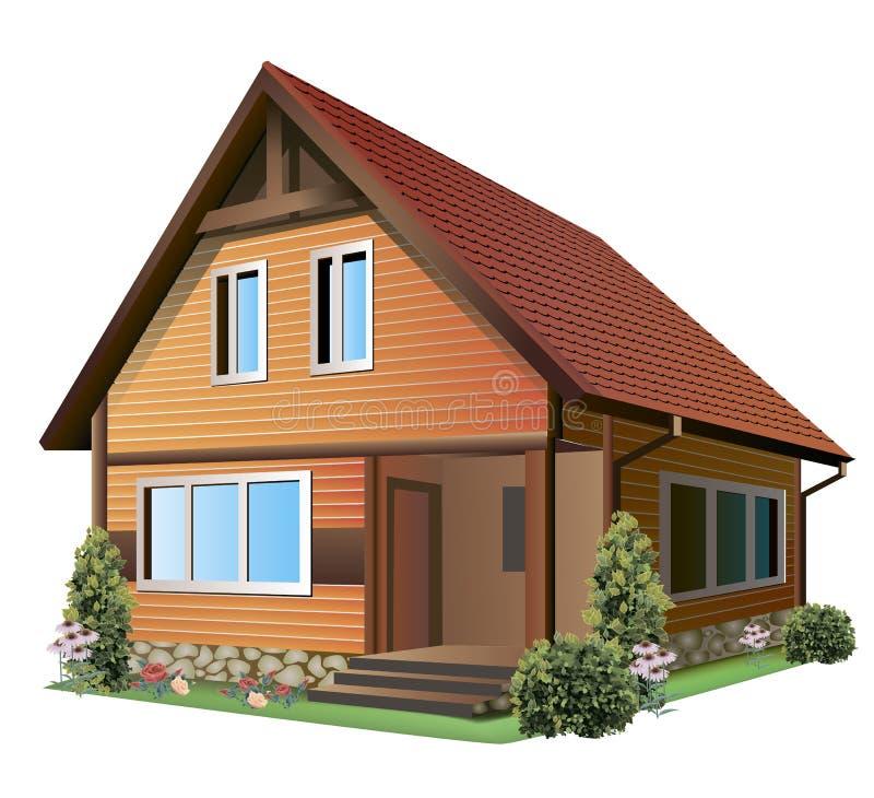 Download Illustration of house stock vector. Illustration of cottage - 28440820