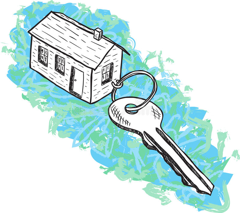 Download Illustration Of House And Key Stock Vector - Image: 26174311