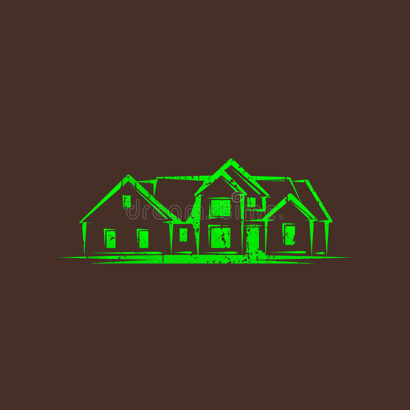 Download Illustration With A House. Real Estate Sign Stock Illustration - Image: 34472896