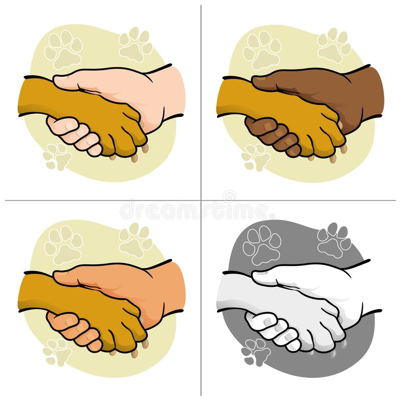 Free Illustration Human Hand Holding A Paw, Ethnicities Royalty Free Stock Image - 164989736