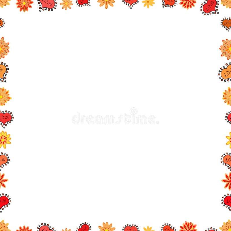 Illustration i beigea och vita f?rger f?r apelsin, vektor illustrationer