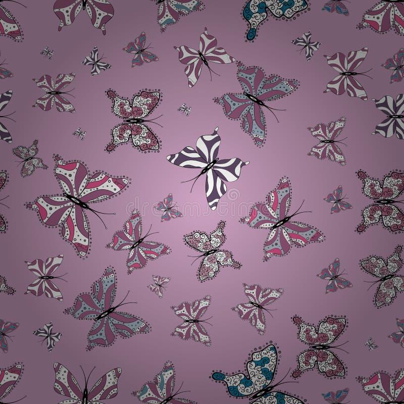 Illustration i violetta, vita och neutrala färger vektor illustrationer