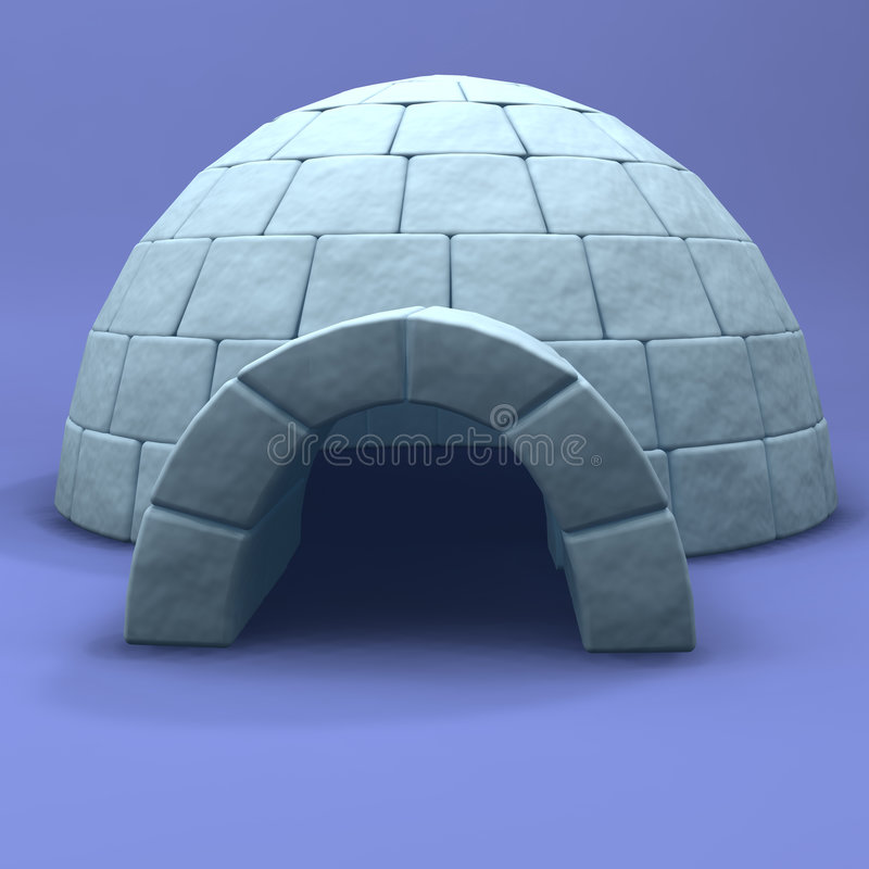 An illustration of an igloo royalty free stock image