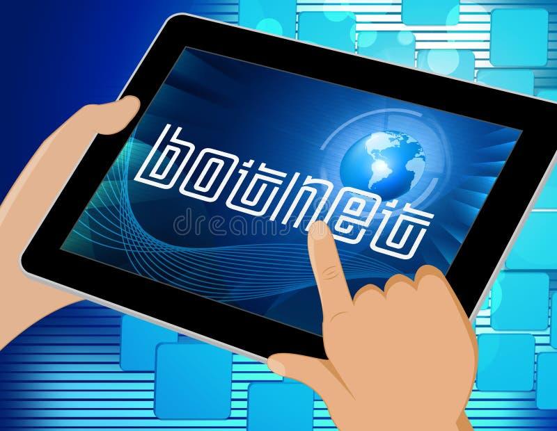 Illustration illégale de la fraude 3d de réseau de Botnet Scam illustration de vecteur