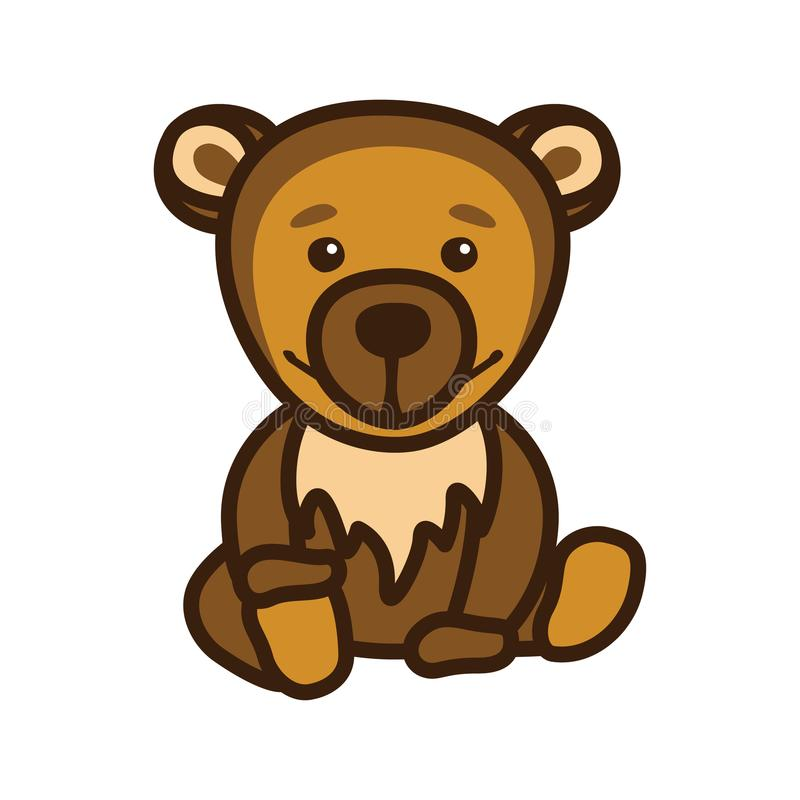 Illustration an image with a bear royalty free stock image