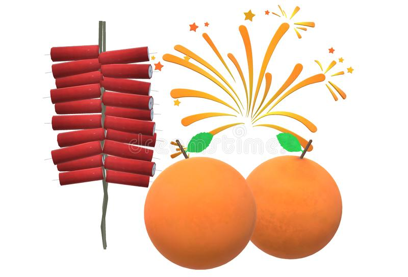 An illustration image of a chinese lunar new year greeting card stock image
