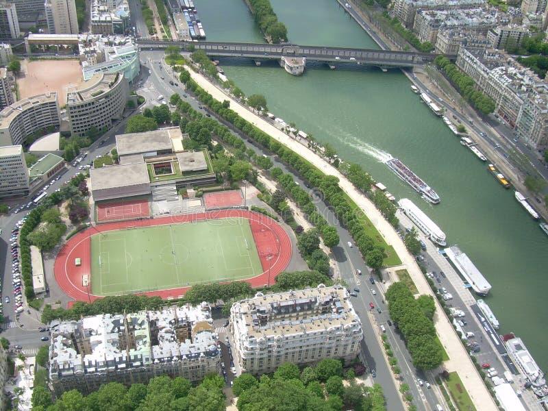 Illustration immobile de fleuve de Sene à Paris image libre de droits