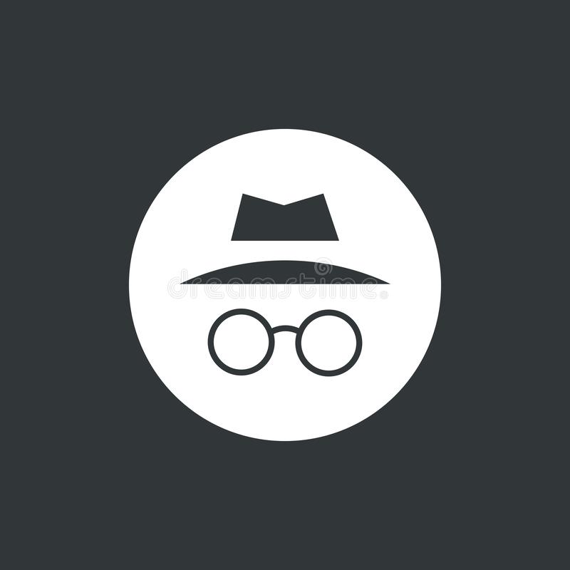 Illustration incognito de vecteur d'icône Passez en revue dans privé D'isolement en cercle blanc illustration de vecteur