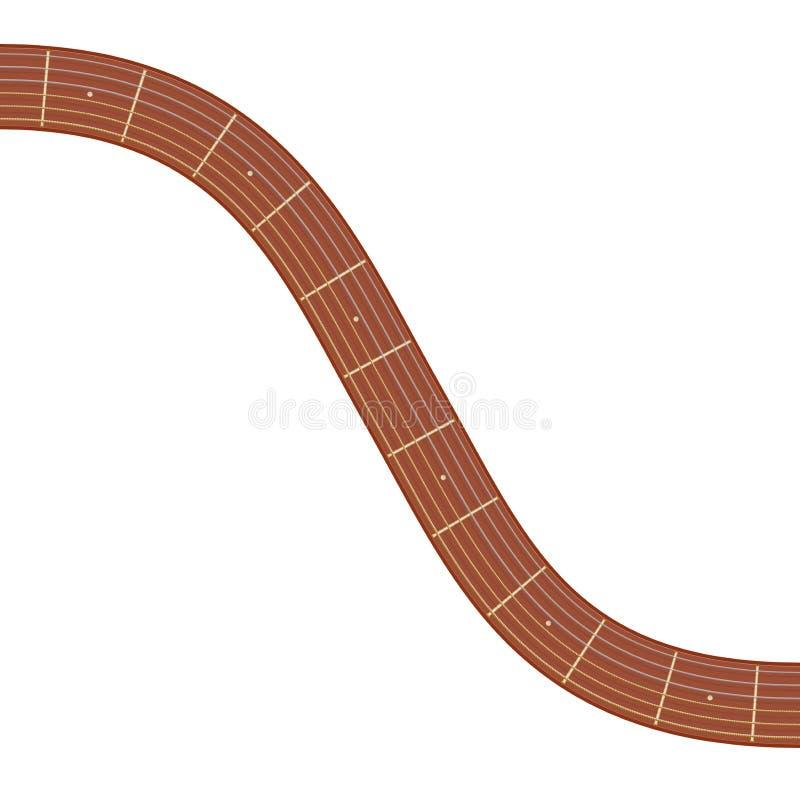 Illustration incurvée de fretboard de guitare illustration libre de droits