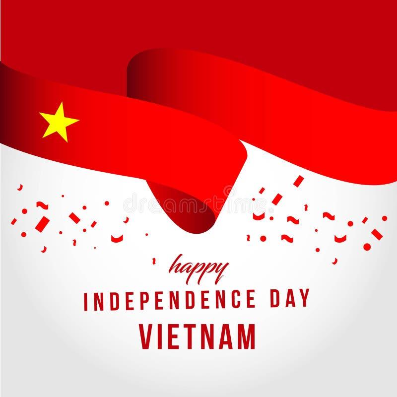 Illustration indépendante heureuse de conception de calibre de vecteur de jour du Vietnam illustration stock