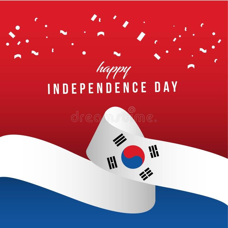 Illustration indépendante heureuse de conception de calibre de vecteur de jour de la Corée du Sud illustration libre de droits