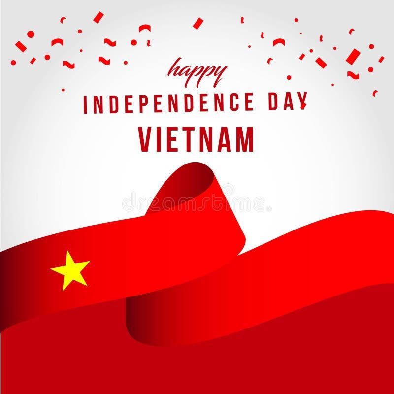 Illustration ind?pendante heureuse de conception de calibre de vecteur de jour du Vietnam illustration libre de droits