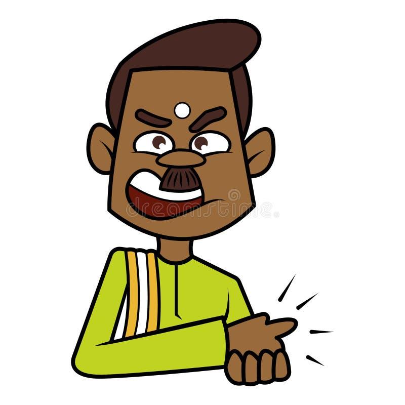 Illustration indienne du sud d'homme de bande dessinée illustration stock