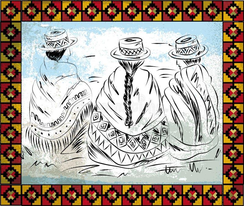 Illustration indigène de femmes illustration de vecteur
