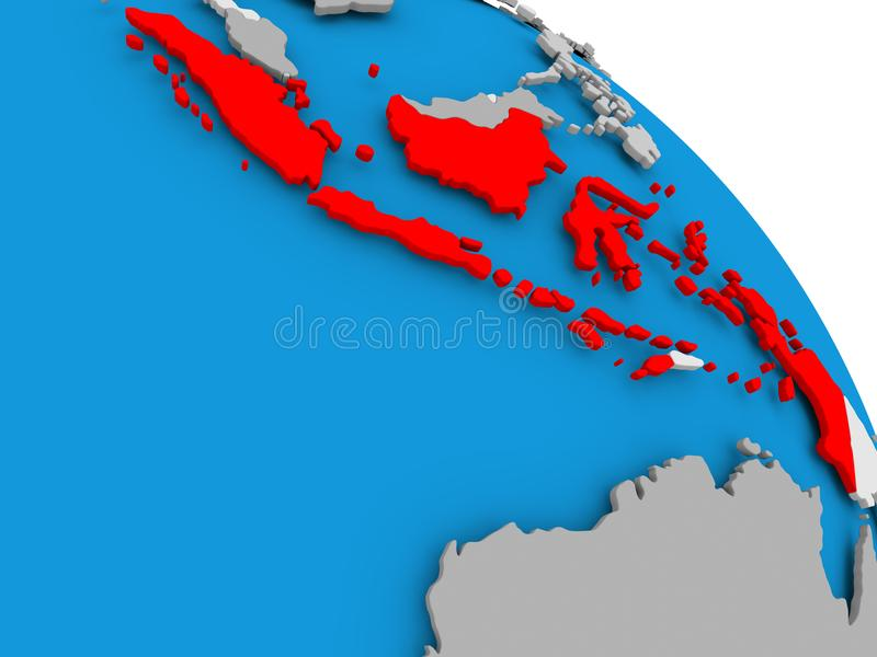 Indonesia in red on map stock illustration illustration of render download indonesia in red on map stock illustration illustration of render 100371918 gumiabroncs Choice Image