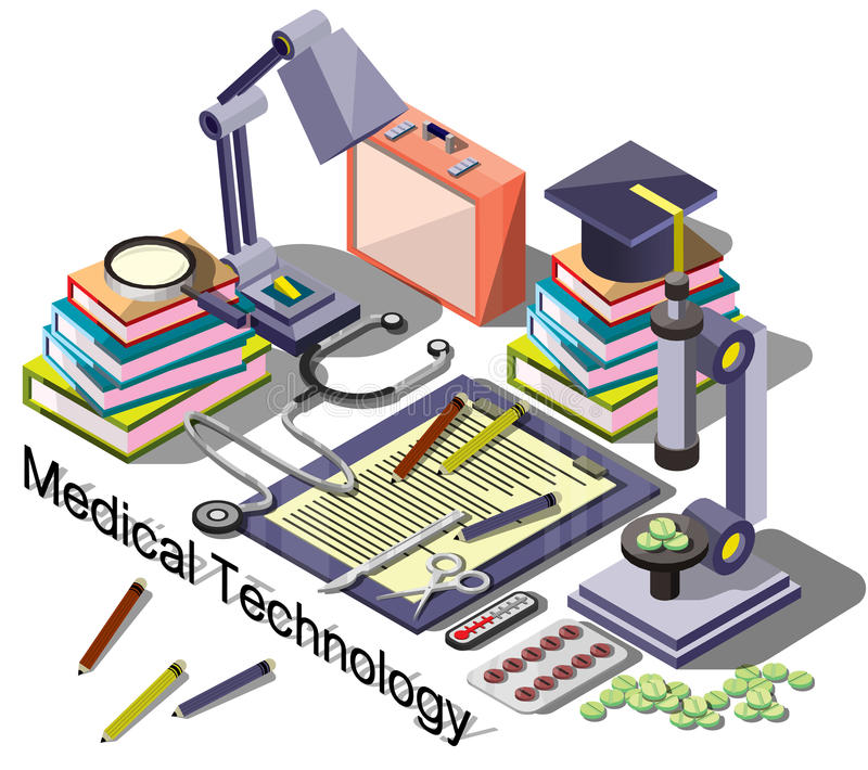 Illustration of info graphic medical concept stock illustration