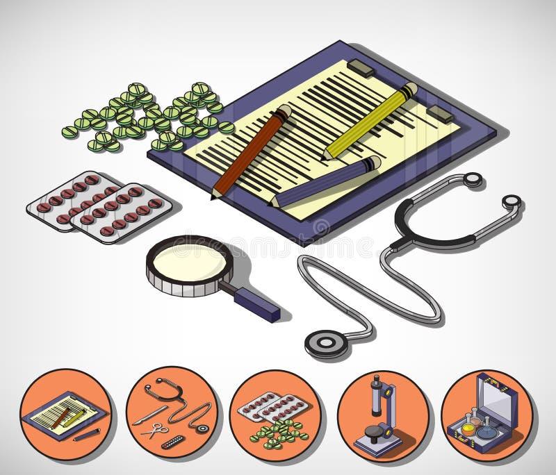 Illustration of info graphic medical concept vector illustration