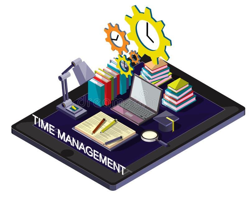 Illustration of info graphic time management concept vector illustration
