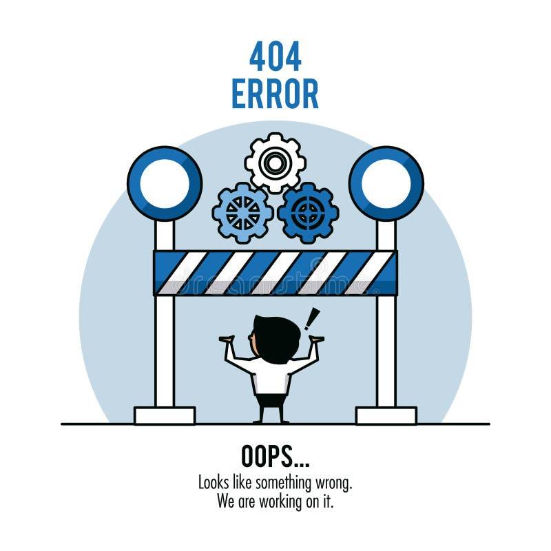 Illustration infographic de vecteur de l'erreur 404 illustration de vecteur