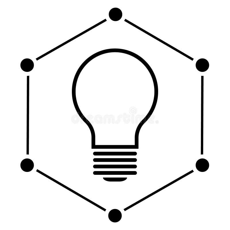 Illustration initiatique d'icône de vecteur Vecteur initiatique de logo illustration libre de droits