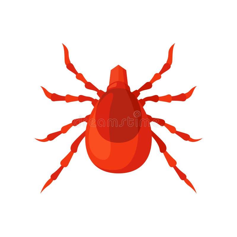 Illustration insecte vecteur d'acarides sur un fond blanc illustration de vecteur