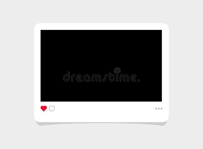Illustration instantanée de cadre de film de photo de style moderne illustration de vecteur