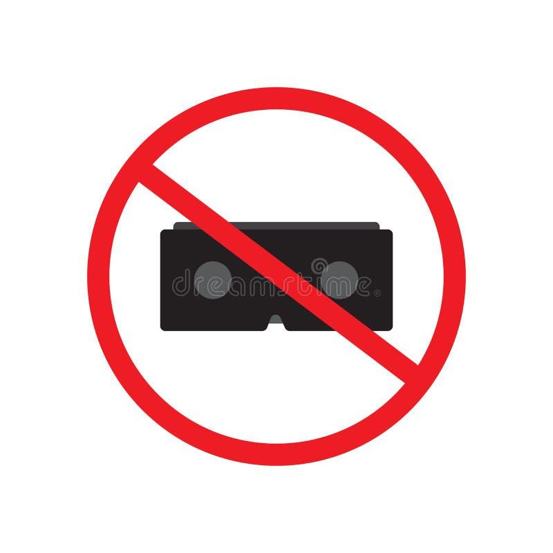 Illustration interdite de conception de vecteur de signe de réalité virtuelle illustration libre de droits