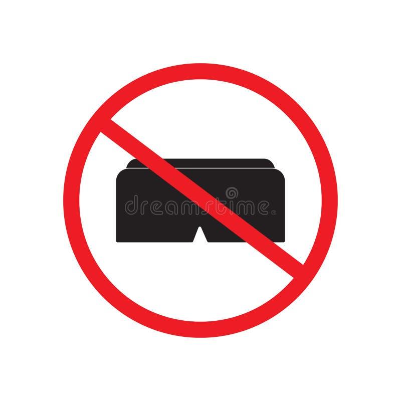 Illustration interdite de conception de vecteur de signe de réalité virtuelle illustration de vecteur