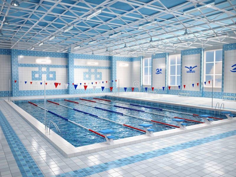 Illustration Of Interior Of Public Swimming Pool Stock Illustration Illustration Of Indoors