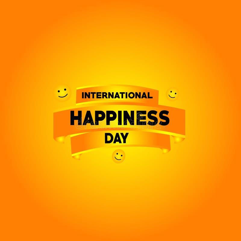 Illustration internationale de conception de calibre de vecteur de jour de bonheur illustration stock