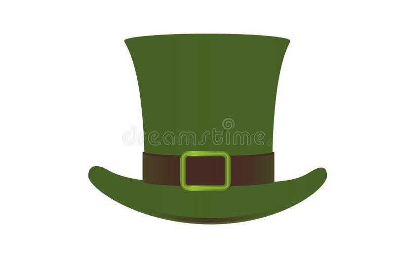 Illustration of Irish elf hat icon on white background. Illustration irish elf hat icon white background head cap fashion item object isolated new image shape vector illustration