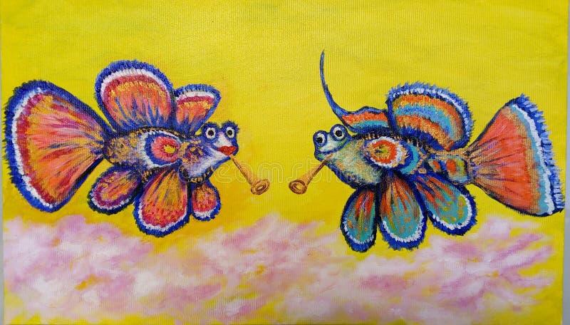 illustration Isabella fisk med lobutenes royaltyfri bild